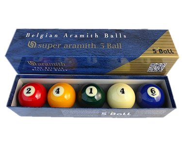 Super Aramith Carambole ballen set 5-ball