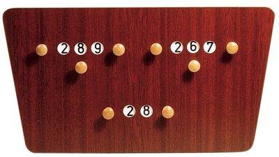 Scorebord Carambole X3 vlinder, 62 x 33 cm