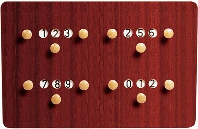 Scorebord Carambole X4, 61 x 40 cm