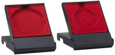 Medailledoosje zwart-rood 70mm