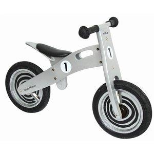 Simply for kids houten loopfiets zilver/zwart